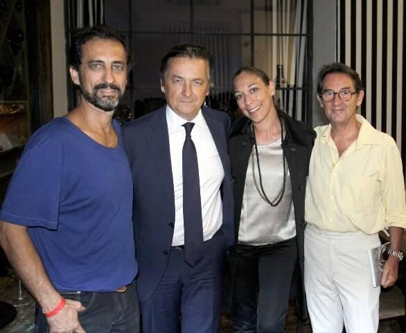 Marcos Duarte, Patrick e Ariana Sabatier com Marc Pottier