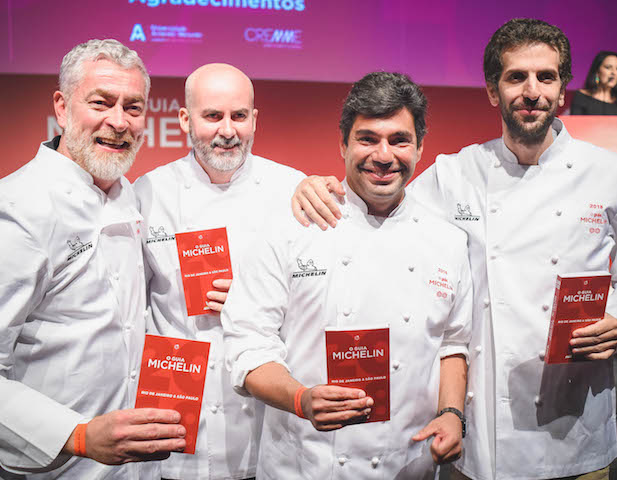 Alex Atala, Geovane Carneiro, Felipe Bronze e Ivan Ralston