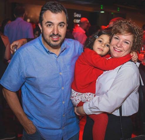 Victor Vasconcellos, Adriana Cymes e Suzi Cymes Vasconcelos