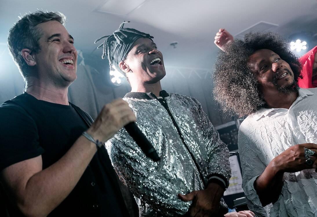 Rogerio Flausino, Toni Garrido e Chico César /Foto: Bruno Ryfer e Miguel Sá
