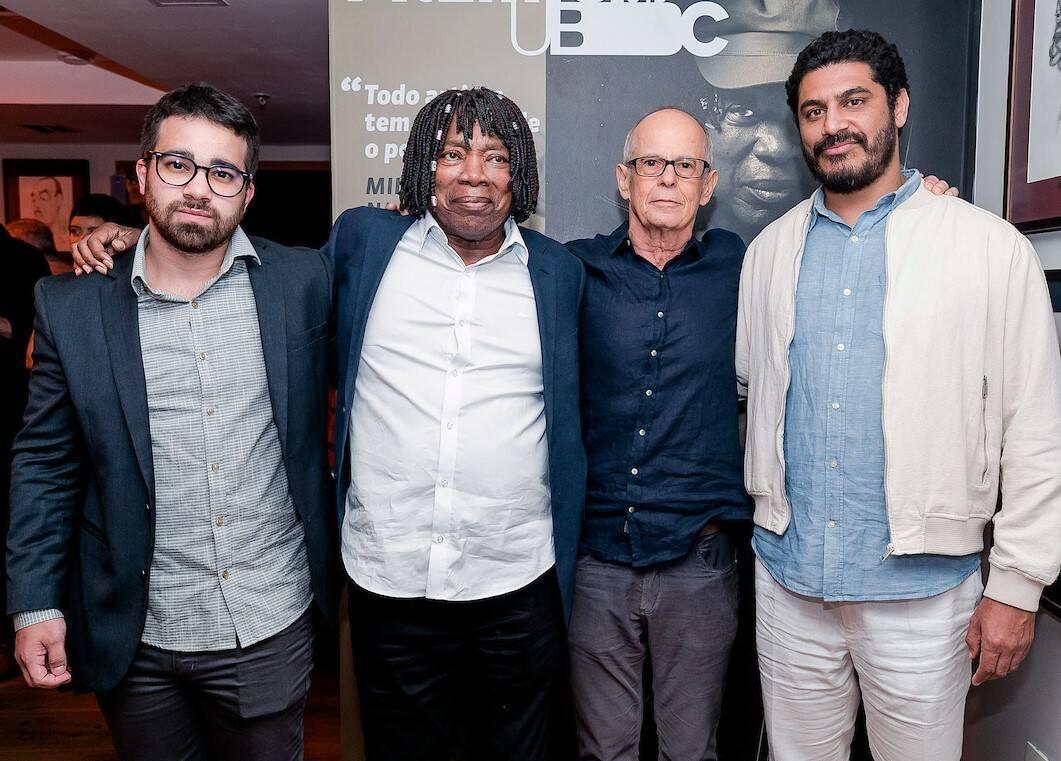 Augusto Nascimento, Milton Nascimento, Ronaldo Bastos e Criolo /Foto: Bruno Ryfer e Miguel Sá