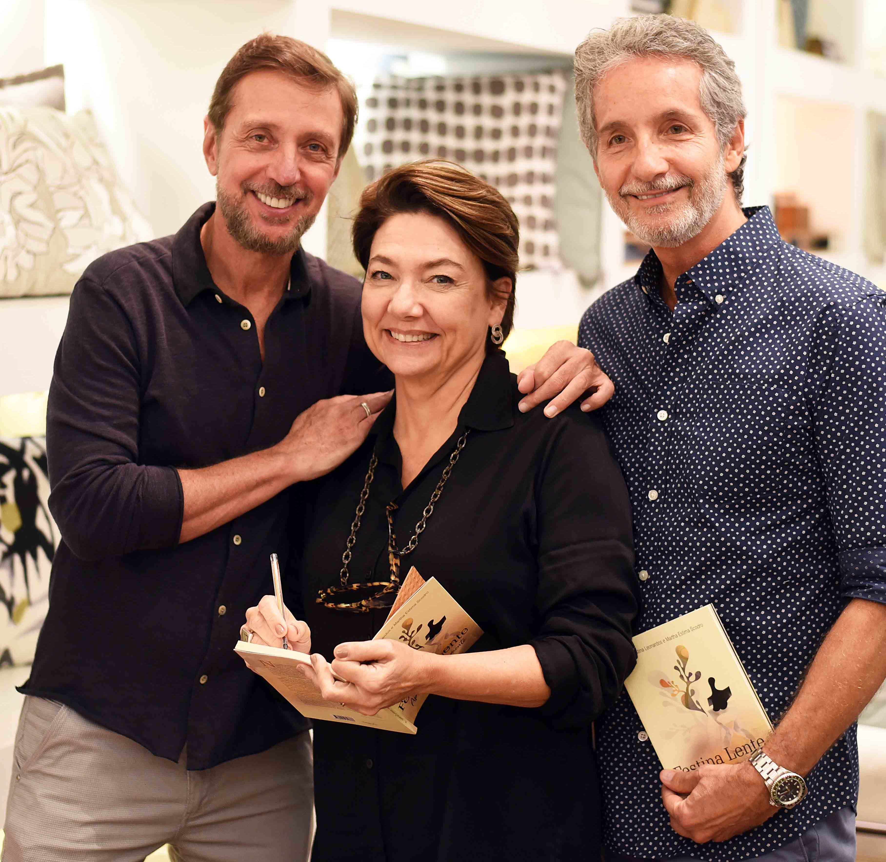 Nando Grabowsky, Ana Cristina Leonardos e Pedro Guimarães /Foto: Ari Kaye