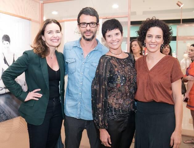 Adriana e Daniel Mattar com Bebel Moraes e Mariana Lima