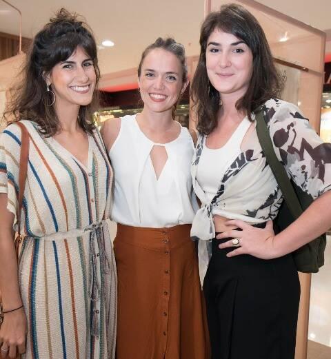 Vanessa Leite, Tereza Monnerat e Larissa Salles