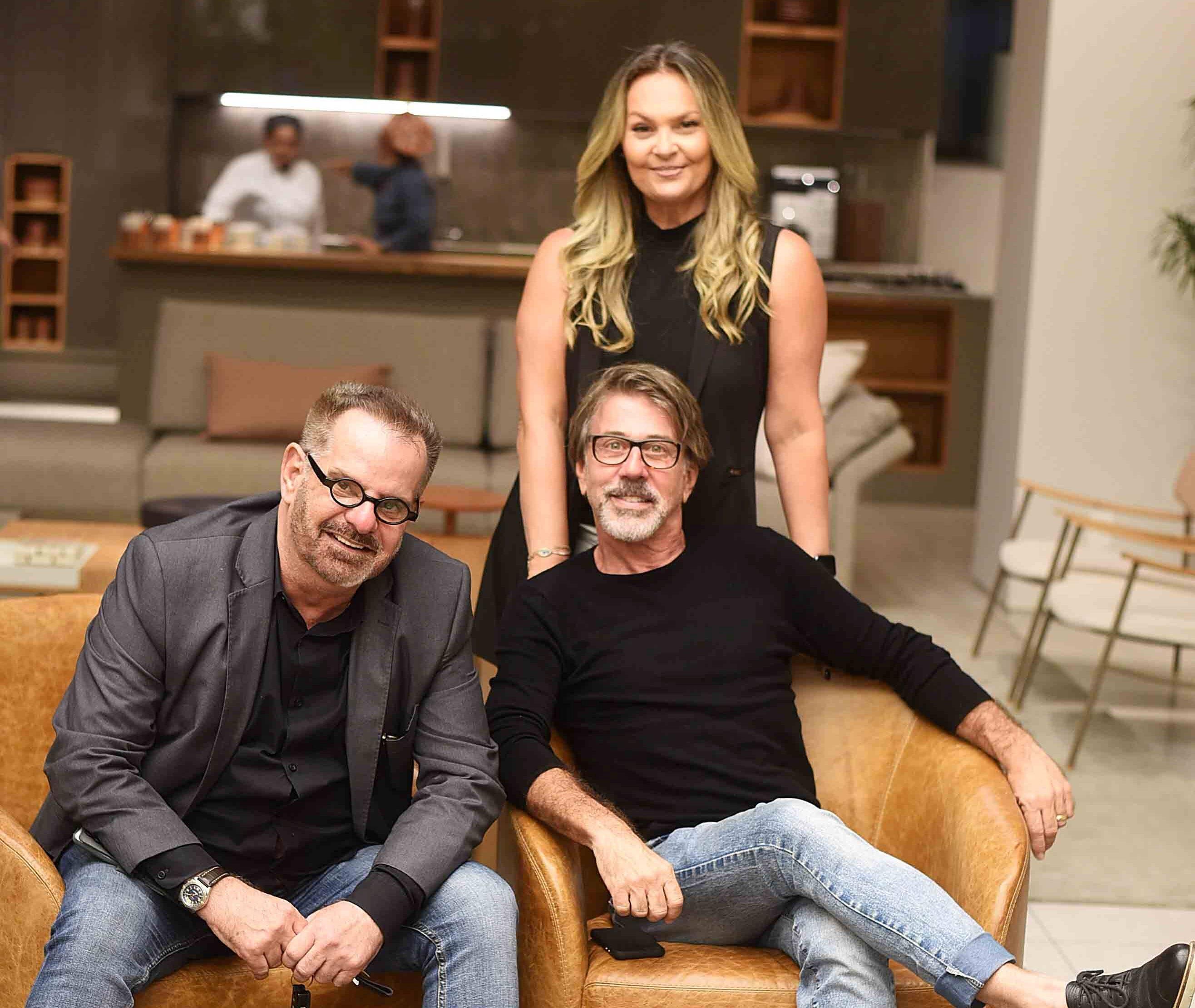 Eduardo Machado, Jairo de Sender e Meri Soares  /Foto: Ari Kaye