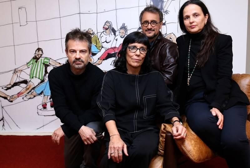 Os curadores da mostra: Felipe Tassara, Daniela Thomas, Fernando Mendes e Mari Stockler