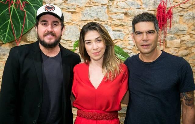 Rodrigo Suricato, Paula Costa e Dado Villa-Lobos