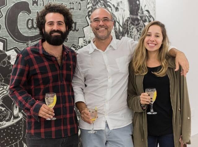 Victor Palermo, Alexandre Salgado e Julia Treiger