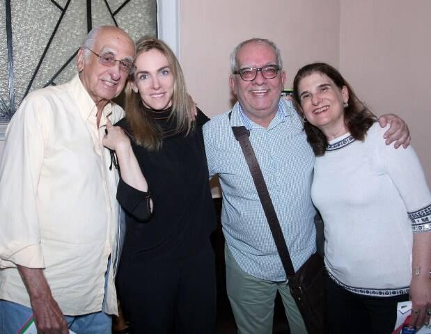 Zuenir Ventura, Patricia Kogut, Artur Xexéo e Sandra Cohen