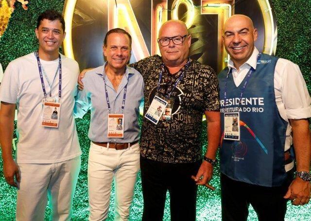 Indio da Costa, João Dória, Victor Oliva e Marcelo Alves