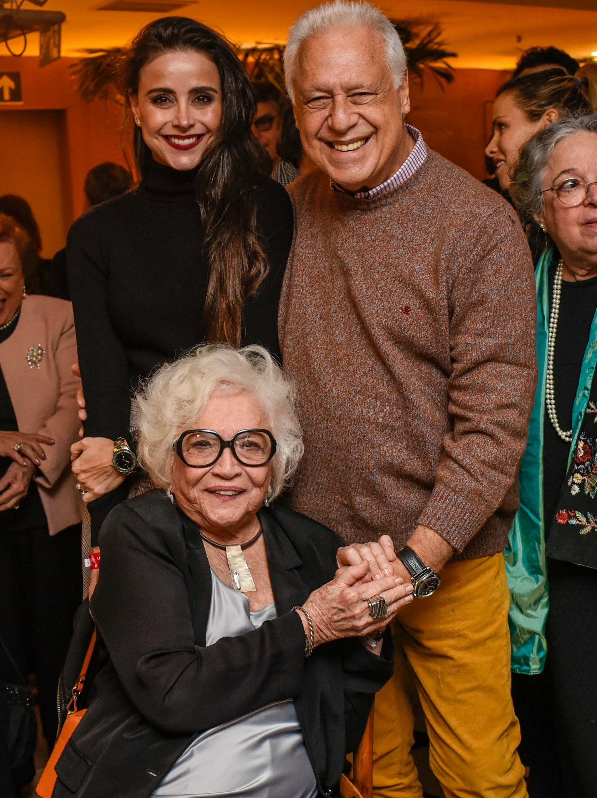 Alexandra Martins, Antônio Fagundes e Nathália Timberg  / Foto: Mariama Prieto