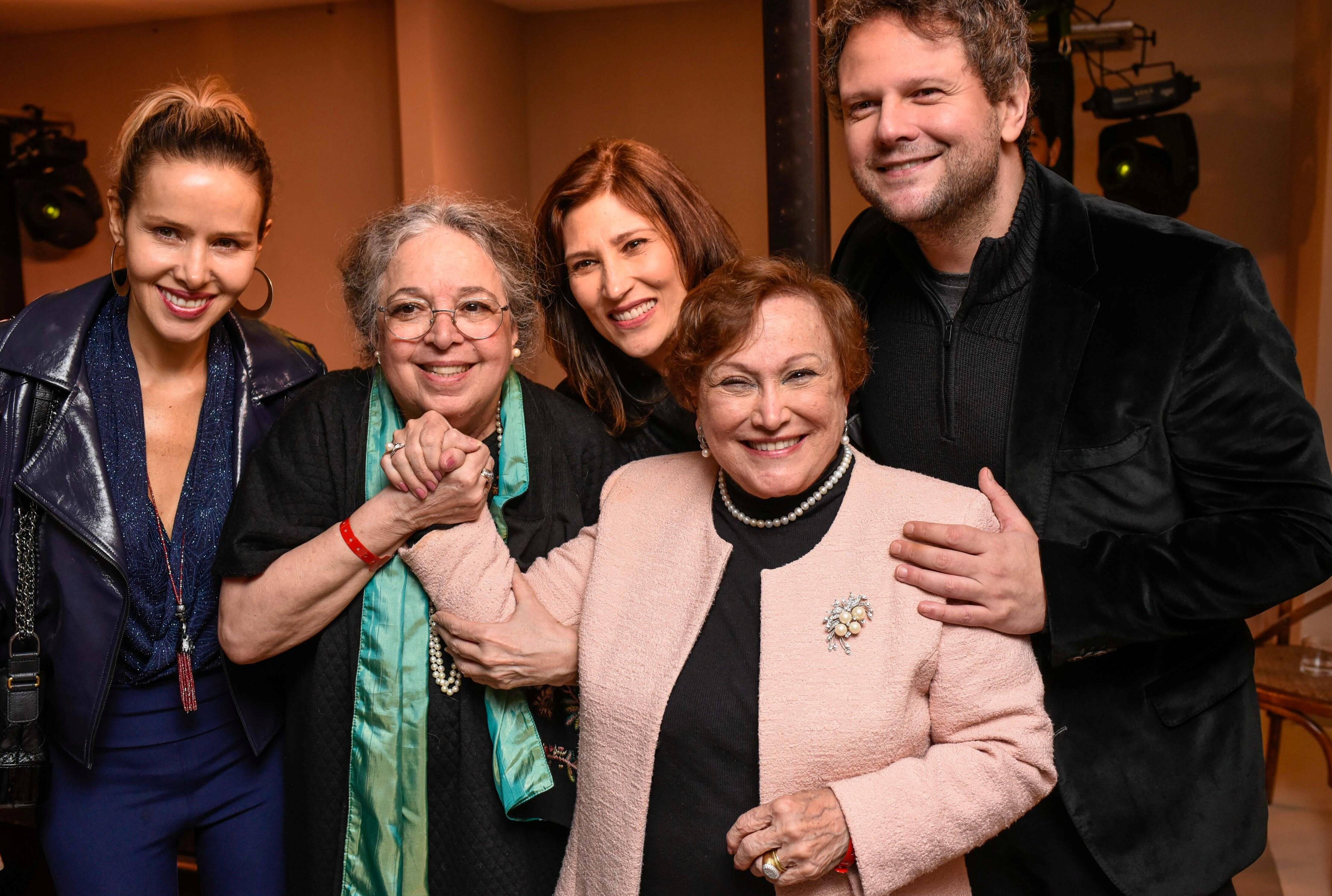 Leona Cavalli, Camila Amado, Beth Goulart, Nicette Bruno e Sellton Mello  /Foto: Mariama Prieto