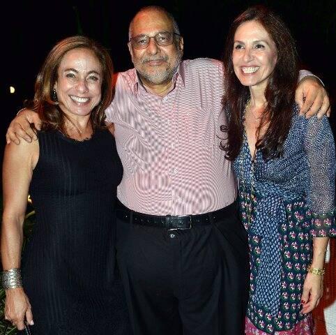 Cissa Guimarães, Jorge Bastos Moreno e Flora Gil