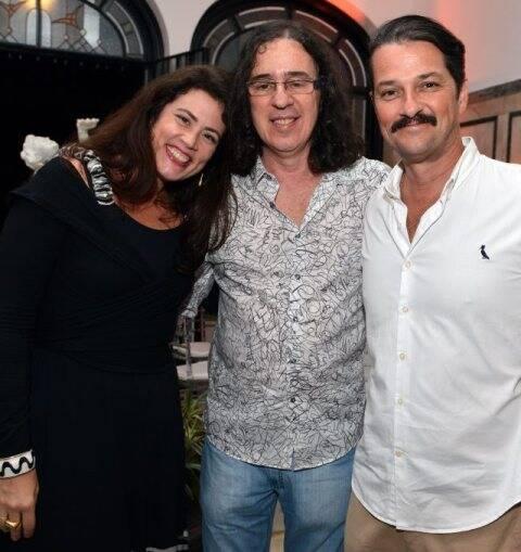 Ana Paula Pedro, Geraldo Carneiro e Marcelo Serrado