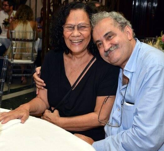 O casal Tina Correia e Ancelmo Gois