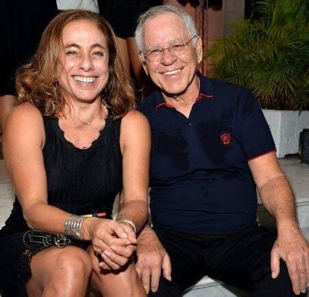 Cissa Guimarães e Nelson Motta
