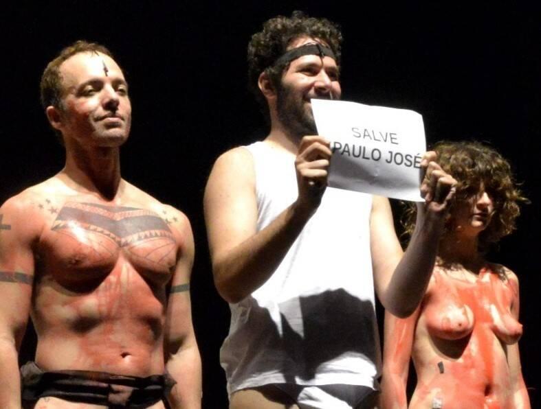 o ator Alfredo Del-Penho segurou um papel em homenagem a Paulo José /Foto: Cristina Granato