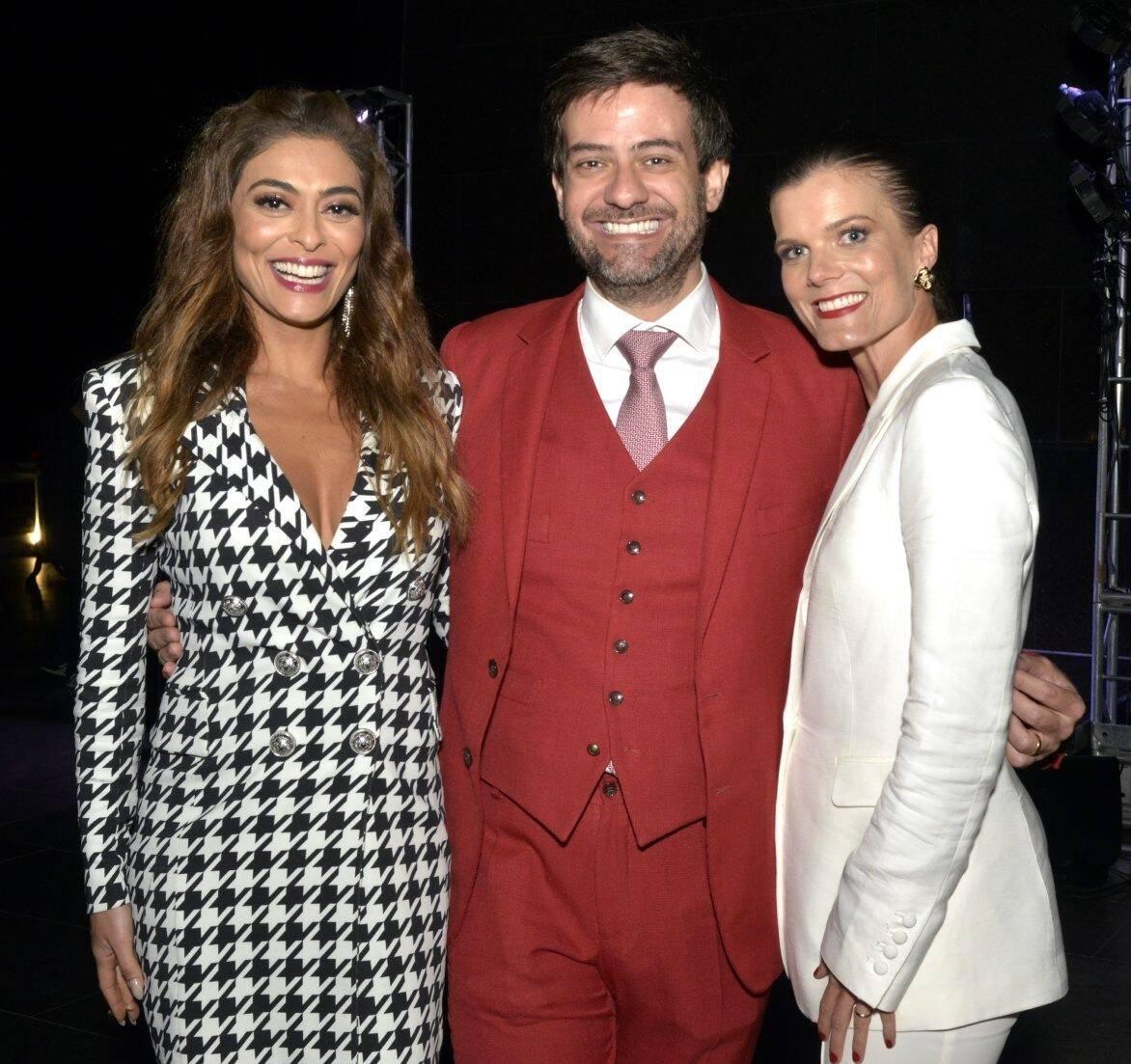 Juliana Paes,  Bruno Astuto, que fez parte da lista de convidados, e Christina Gläser,  diretora de Turismo da Suíça /Foto: Cristina Granato