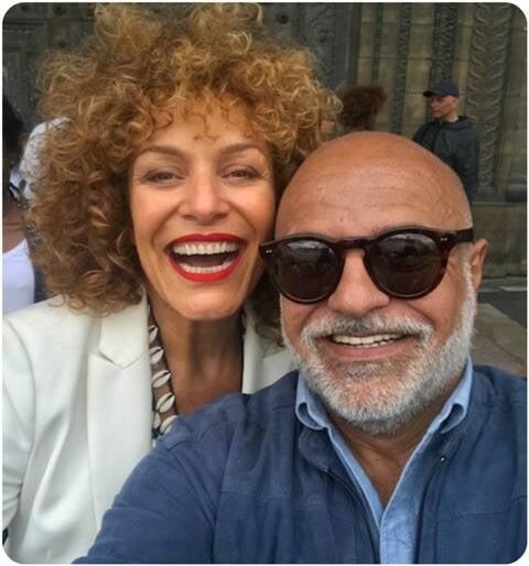 A cantora Marcia Grandini e Paulo Pereira