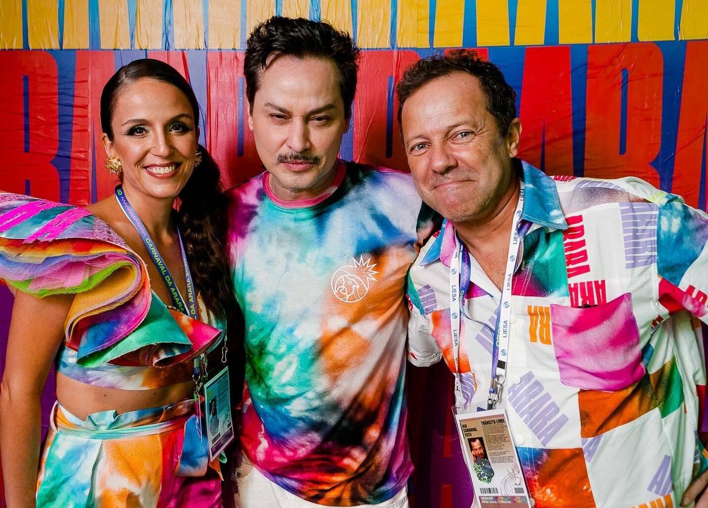 Malu Barretto, Mauricio Branco e Vik Muniz /Foto: Bruno Ryfer