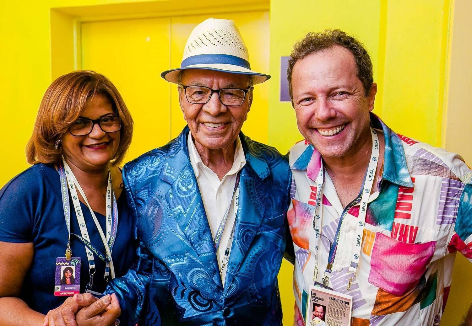 Olinda Diniz, Monarco e Vik Muniz /Foto: Bruno Ryfer