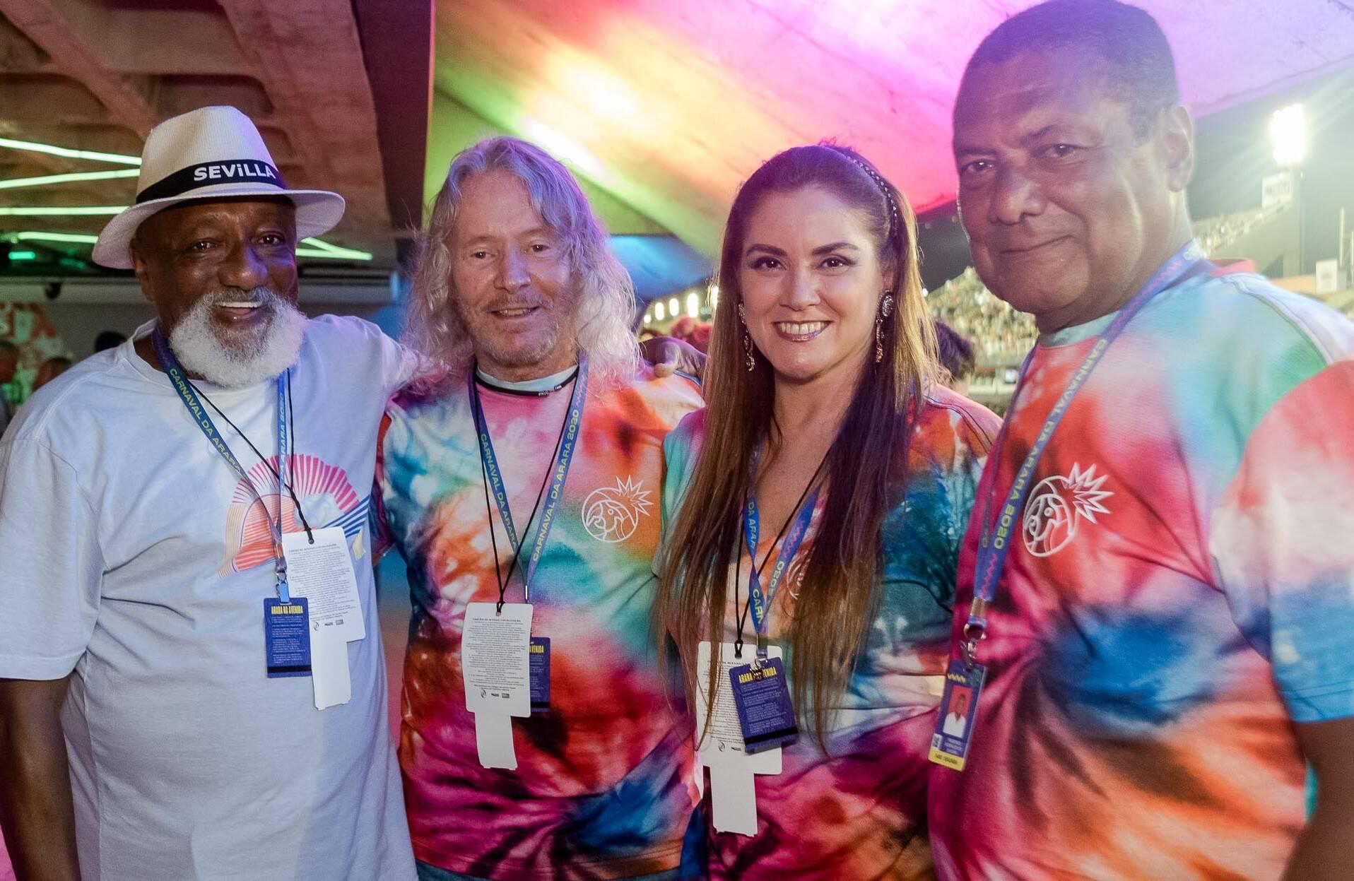 Paulo Cezar Caju, Marcos Valle, Patricia Vale e Fred /Foto: Bruno Ryfer