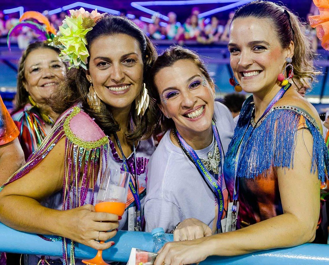 Elis Goncalves,Claudia Darcy e Karina Cunha /Foto: Bruno Ryfer