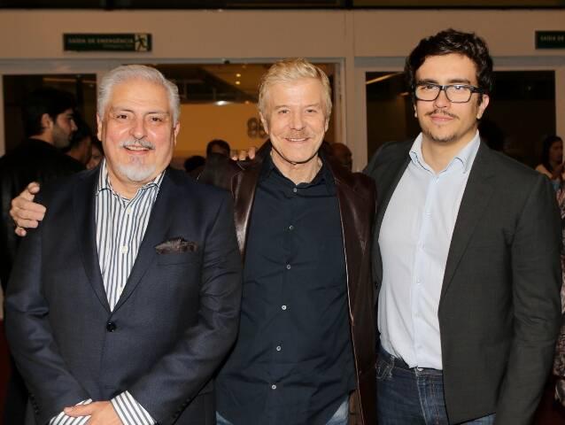 Carlos Cavalcanti, Miguel Falabella e Vinicius Munhoz