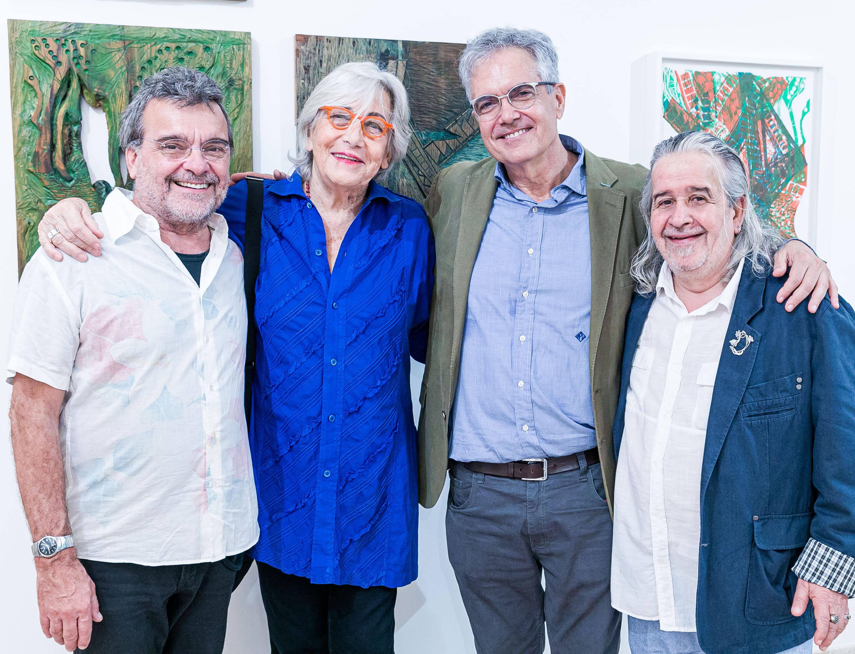 Antonio Mendel,  Maria Bonomi, Lauro Cavalcanti e Joel Coelho / Foto: Miguel Sá