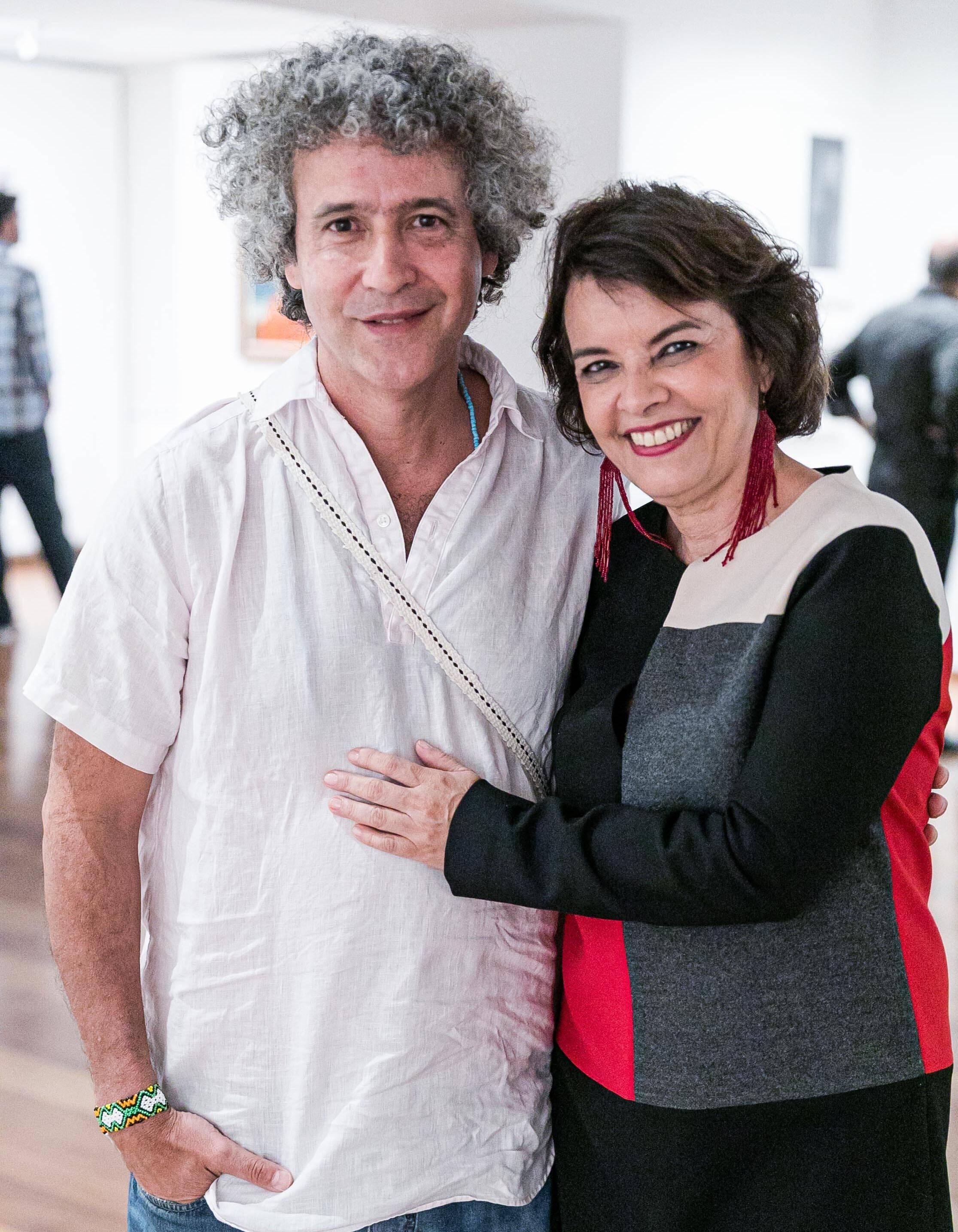 Ernesto Neto e Márcia Mello / Foto: Miguel Sá