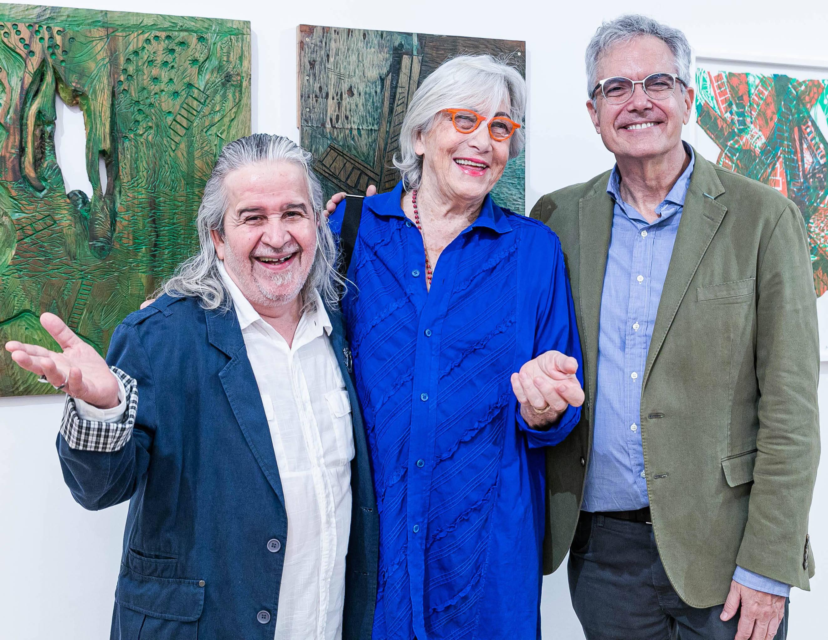 Joel Coelho, Maria Bonomi e Lauro Cavalcante / Foto: Miguel Sá