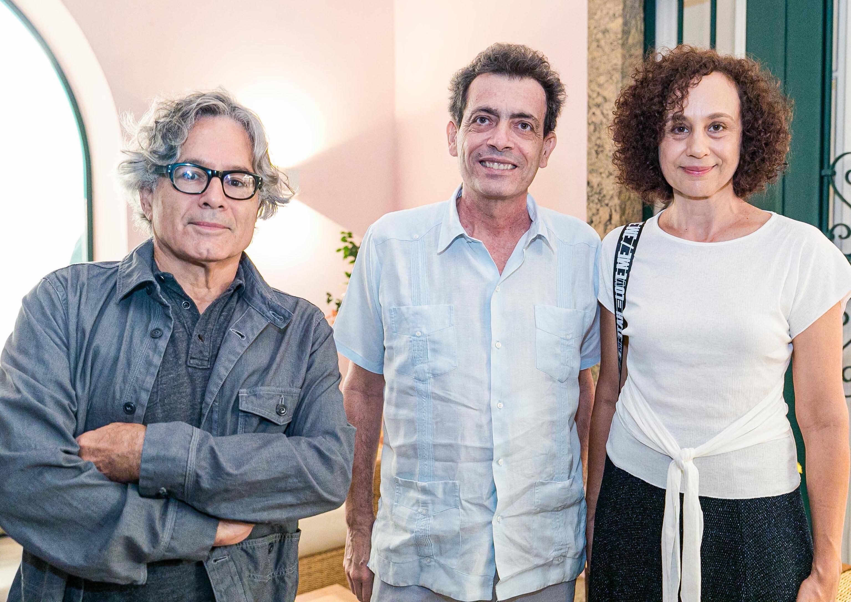 Paulo Venancio Filho, Carlito Carvalhosa e Vânia  Mignone / Foto: Miguel Sá