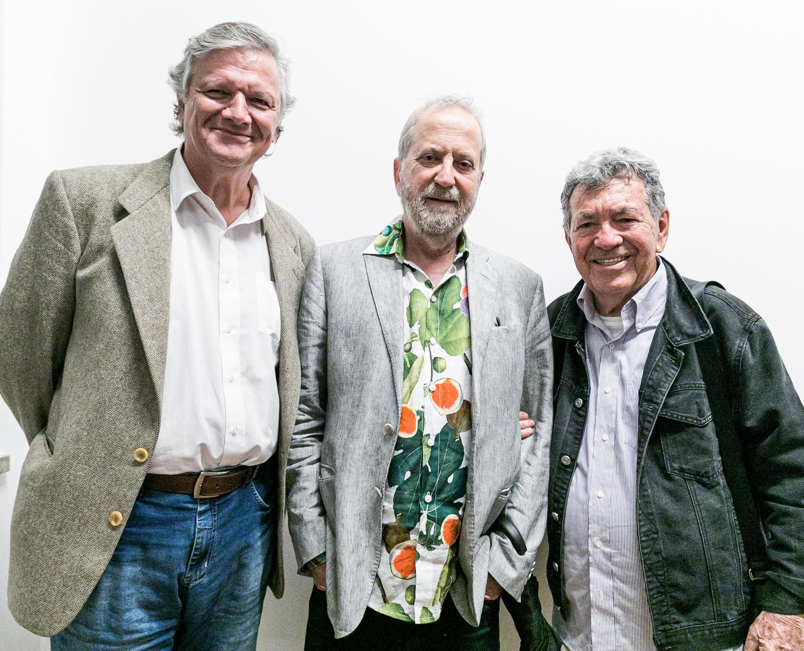 Sergio Burgi, Leonal Katz e Evandro Teixeira / Foto: Miguel Sá