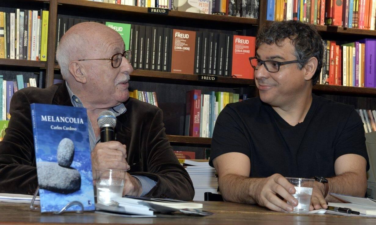 Silviano Santiago e  Carlos Cardoso /Foto: Cristina Granato