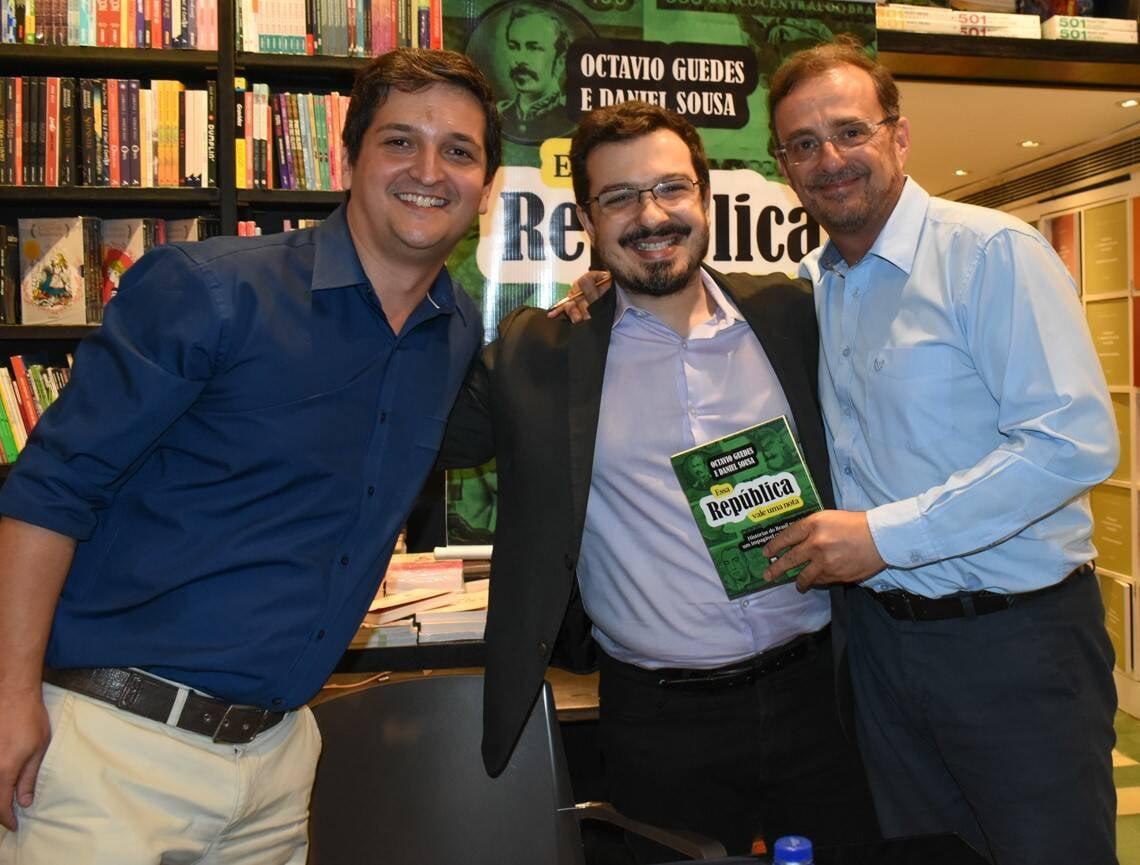 Daniel Sousa, Octavio Guedes e Guilherme Amado /Foto: Cristina Lacerda