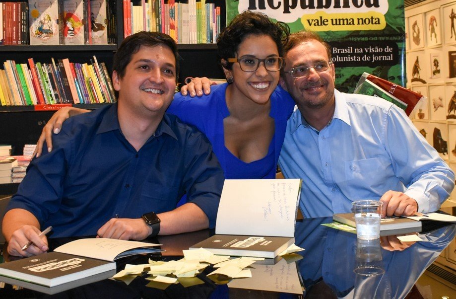 Daniel Sousa, Lilian Ribeiro e Octavio Guedes /Foto: Cristina Lacerda