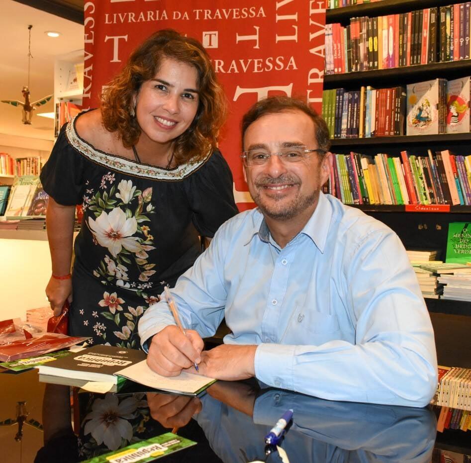 Viviane Cohen e Octavio Guedes /Foto: Cristina Lacerda