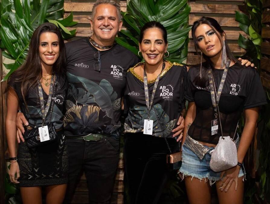 Ana Morais, Orlando Morais, Glória Pires e Antonia Morais   /Foto: Thiago Cardoso