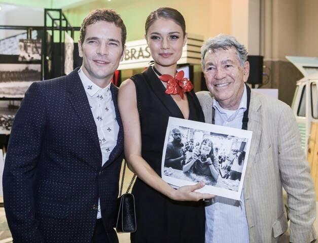 Daniel Oliveira, Sophie Charlotte e Evandro Teixeira