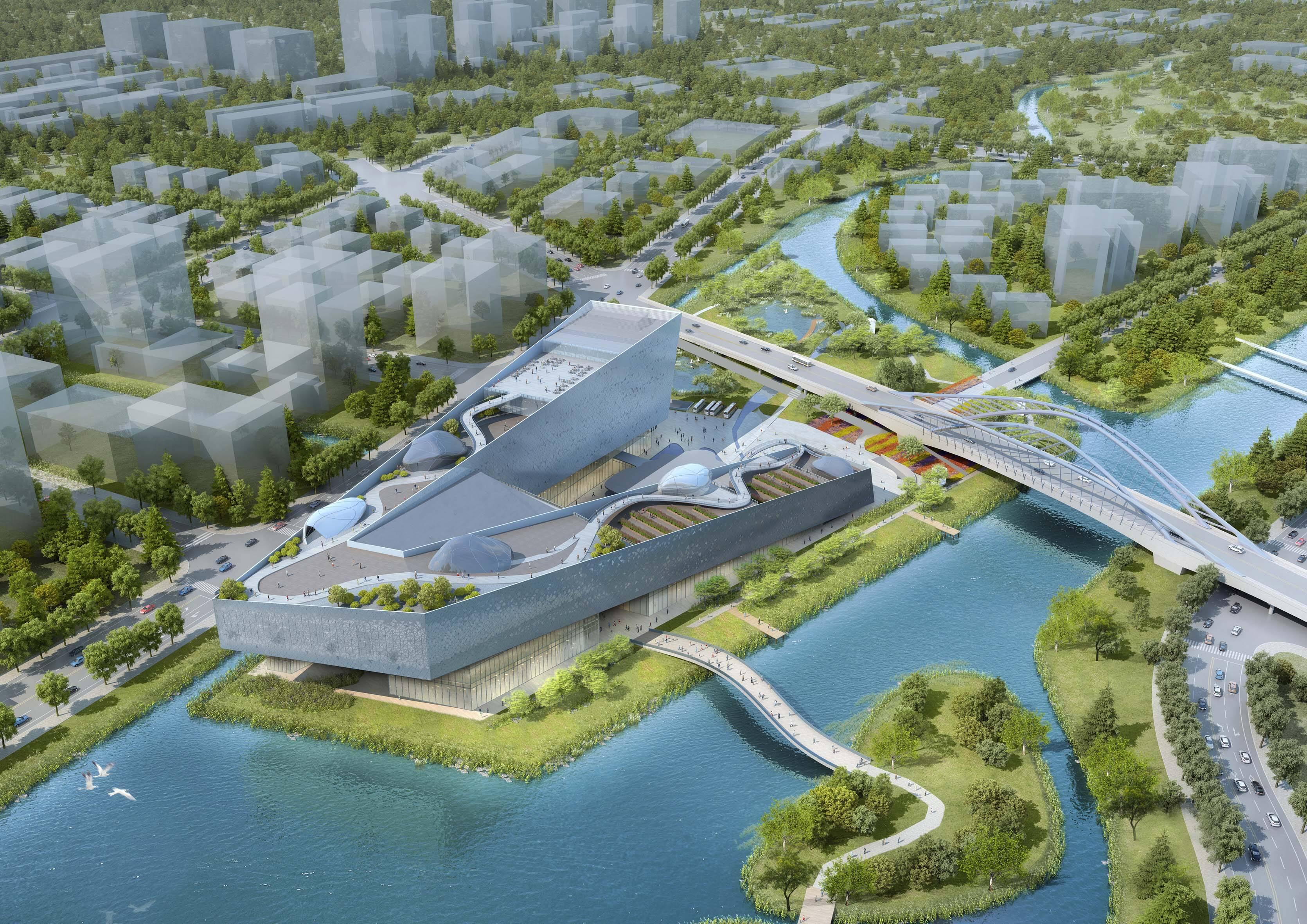 Cidade da Ciência em Shanghai, em Zhangjiang, coração do chamado Vale do Silício da China, com área total de 120 mil metros quadrados, projeto vencedor em 2017 /Foto: Arquivo Pessoal
