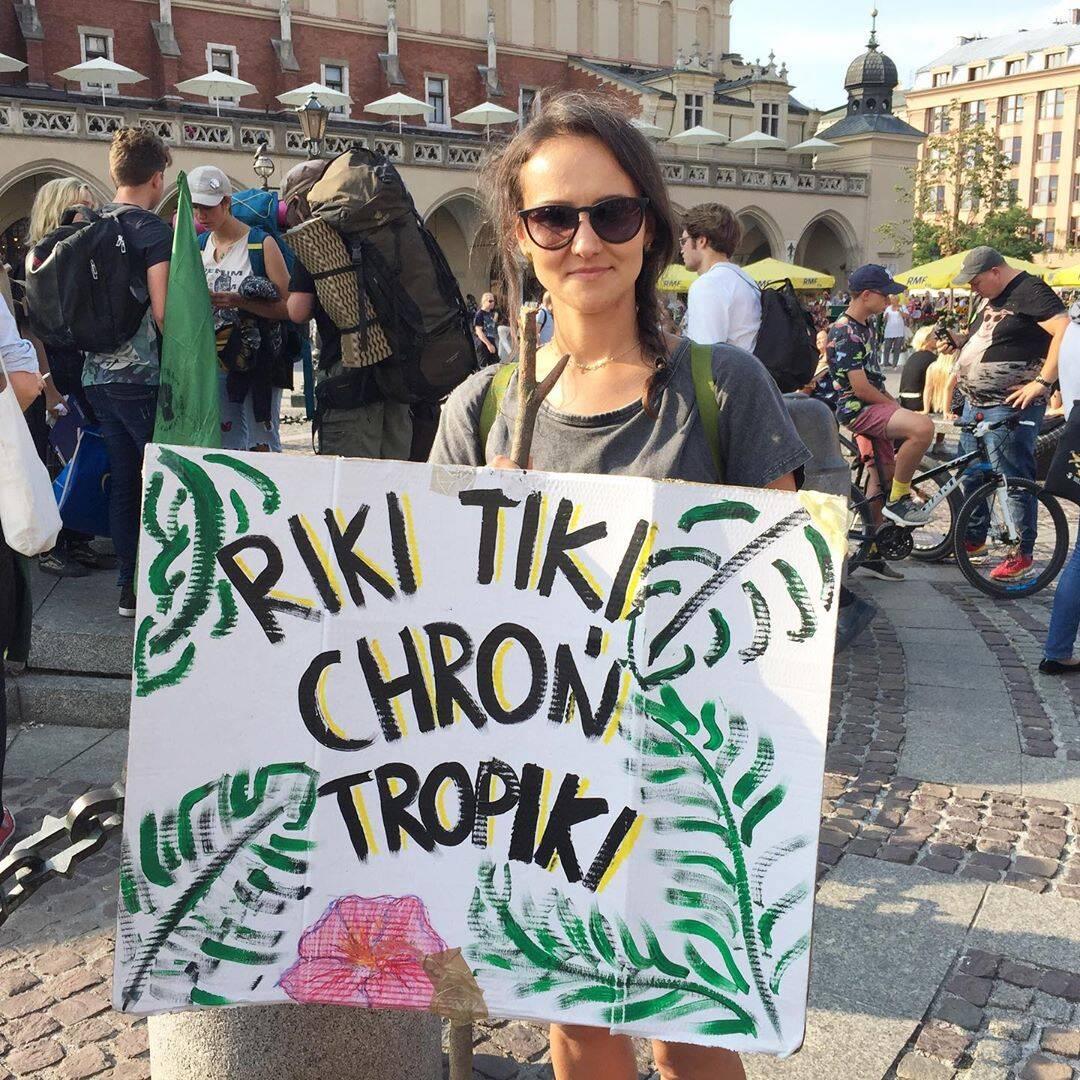 Protestante na Cracóvia, Polônia /Foto: Reprodução