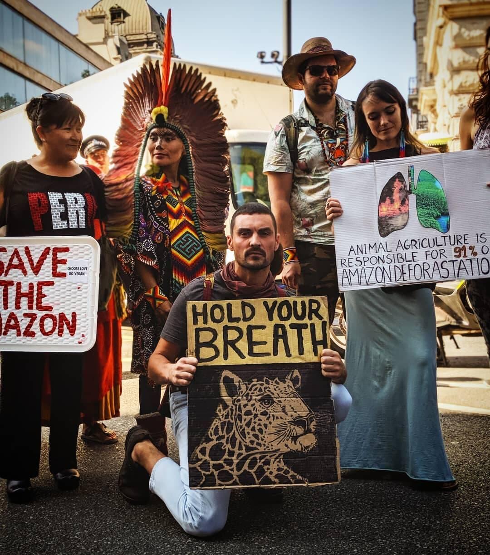 Manifestantes em Londres  /Foto: Reprodução