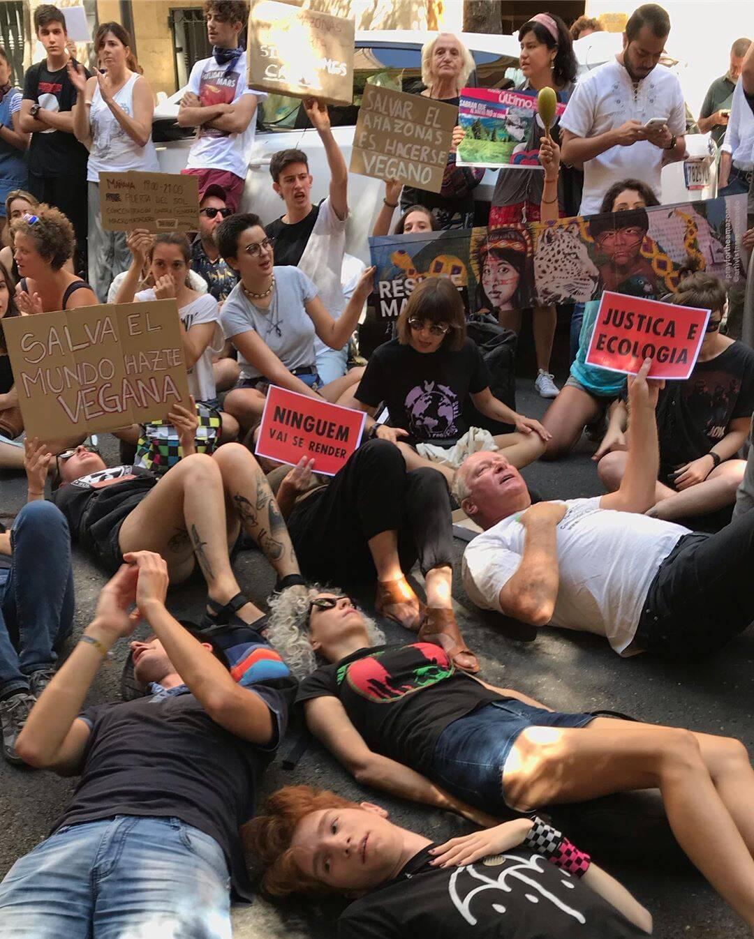Manifestantes em Madri /Foto: Reprodução