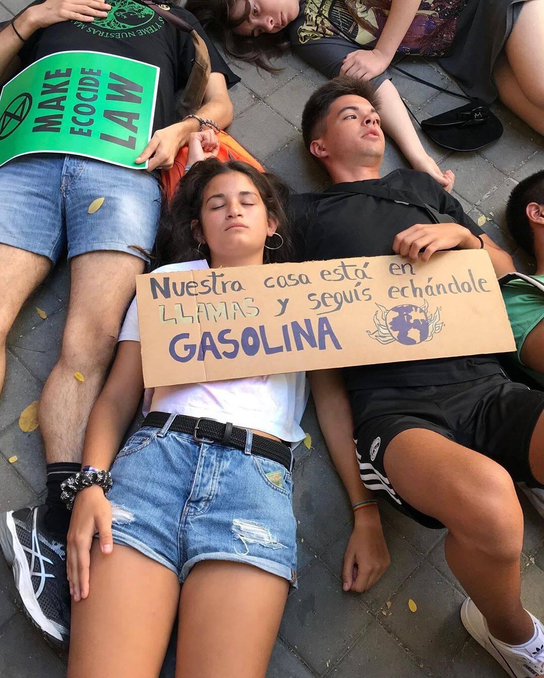Protestos em Madri /Foto: Reprodução