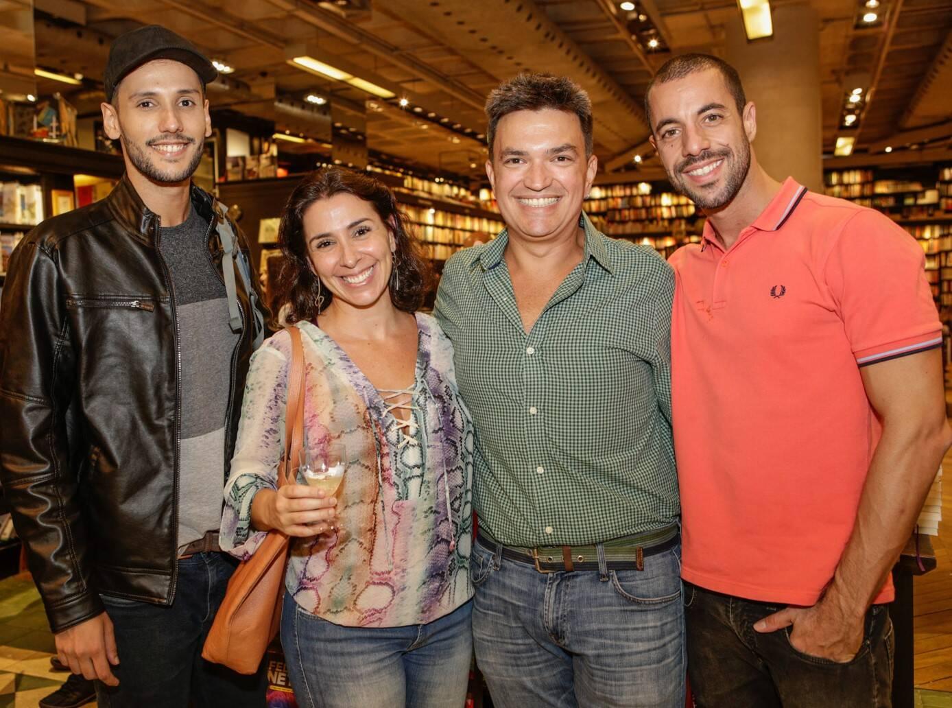 Daniel Marano, Athenea Bastos, Manoel Valle e Guilherme Gobbi  /Foto: Gianne Carvalho