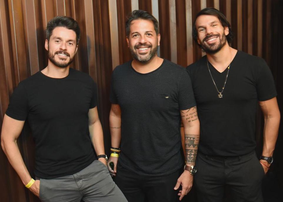 Bruno Martinez, Rafael Cuia e Lipy Adler / Foto: Ari Kaye