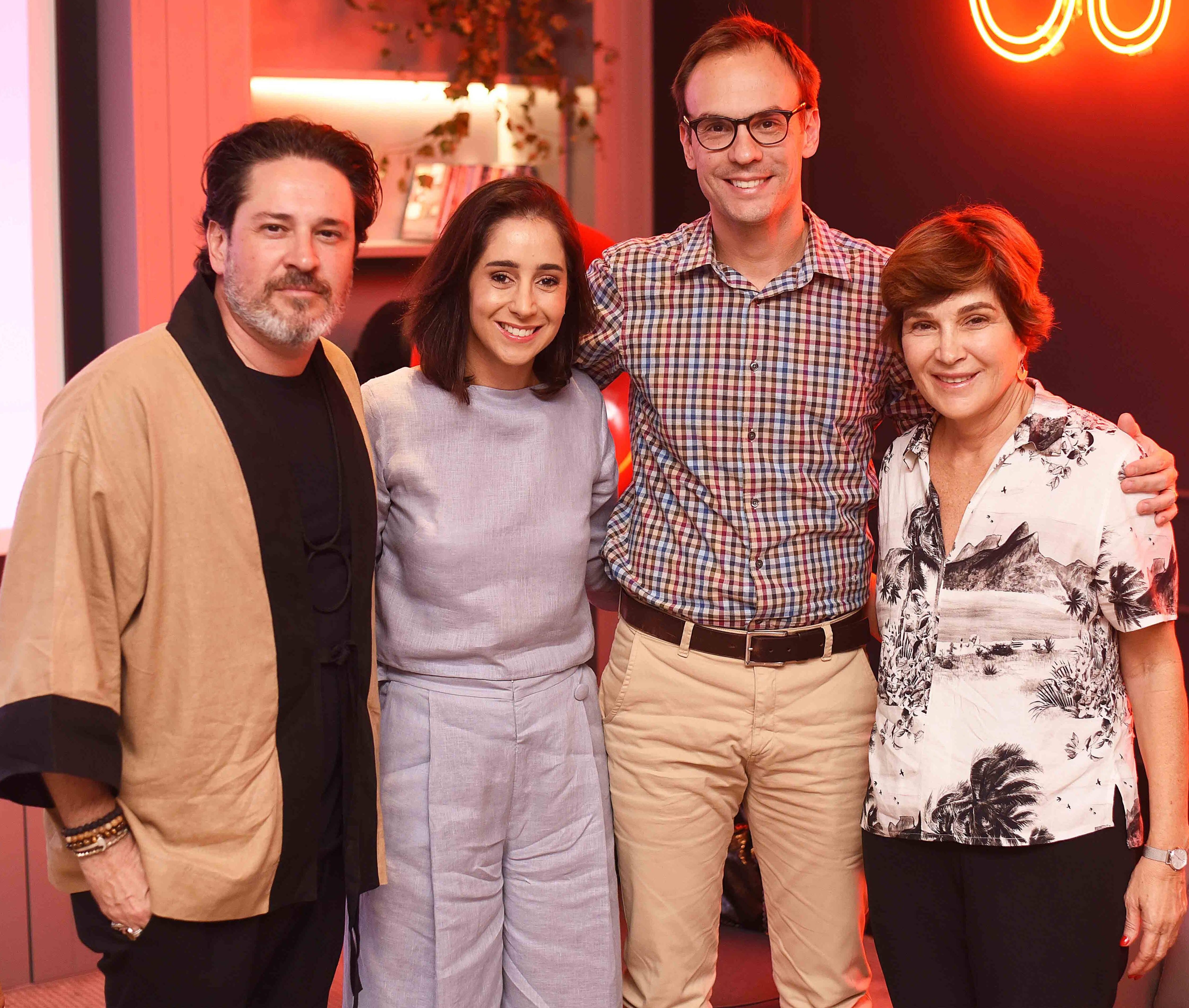 Celso Rayol, Antonia Leite Barbosa, Fernando Costa e Nina Almeida Braga /Foto: Ari Kaye