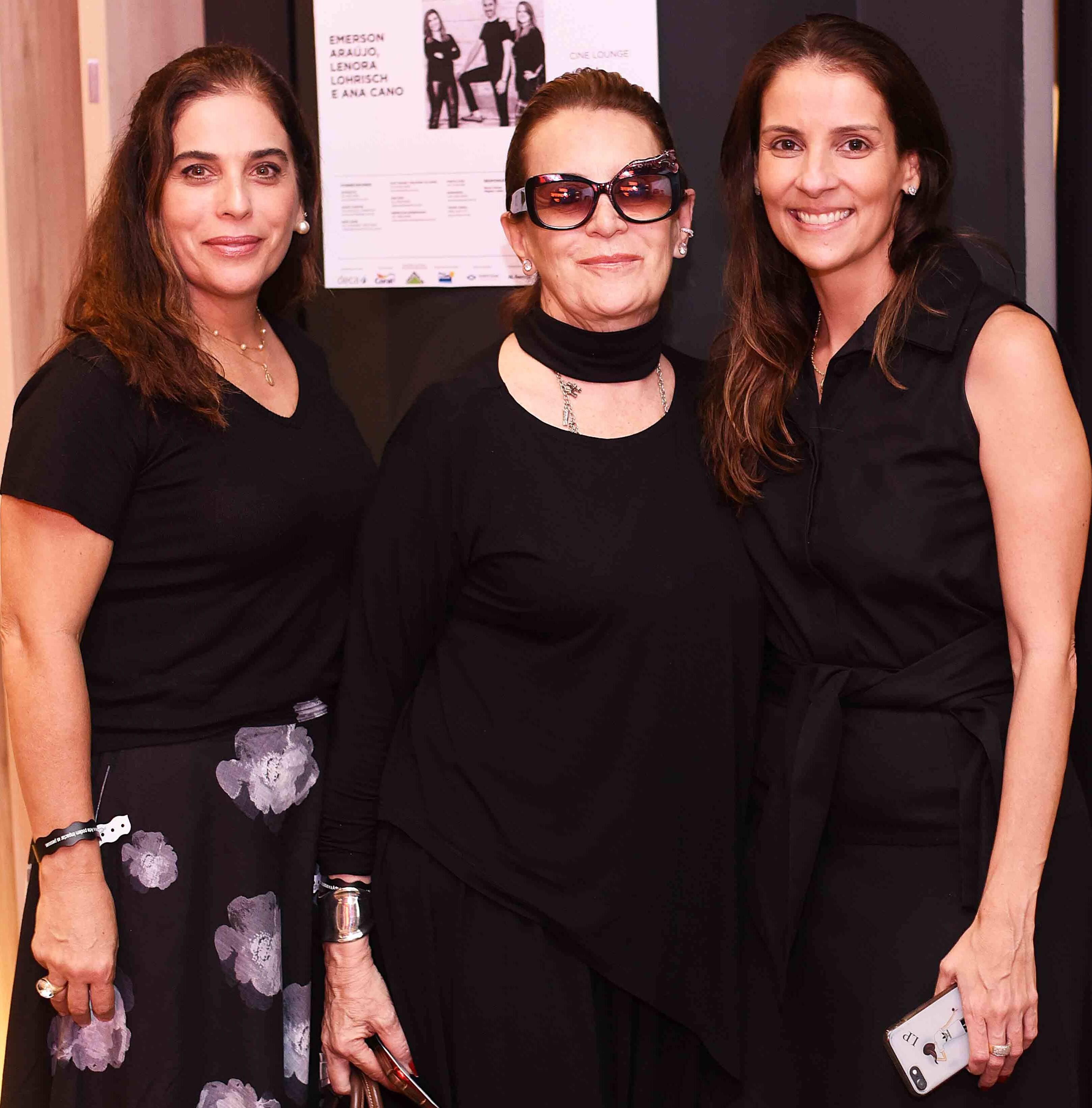 Rossiane Correa, Fatima Martins e Laura Paes /Foto: Ari Kaye
