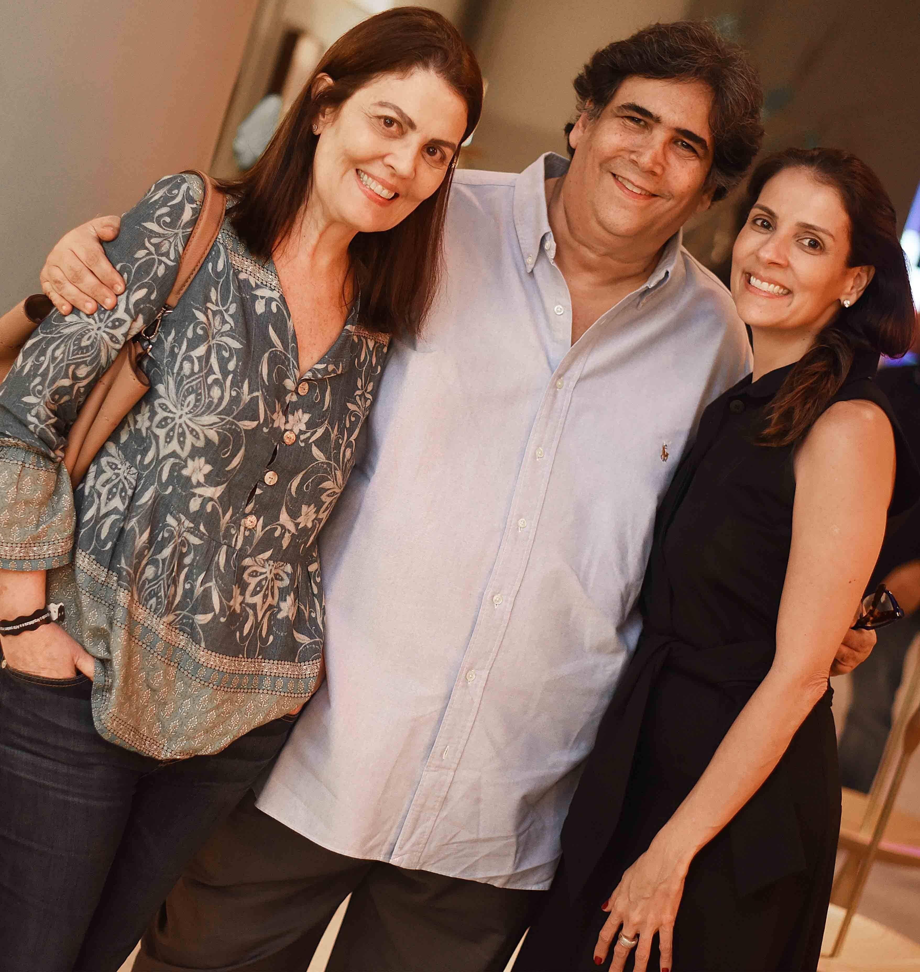 Tininha Machado Coelho, Antonio Neves da Rocha e Laura Paes /Foto: Ari Kaye