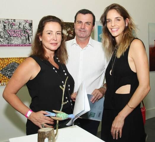 Verônica Nieckele, César Ramos e Ana Klabin